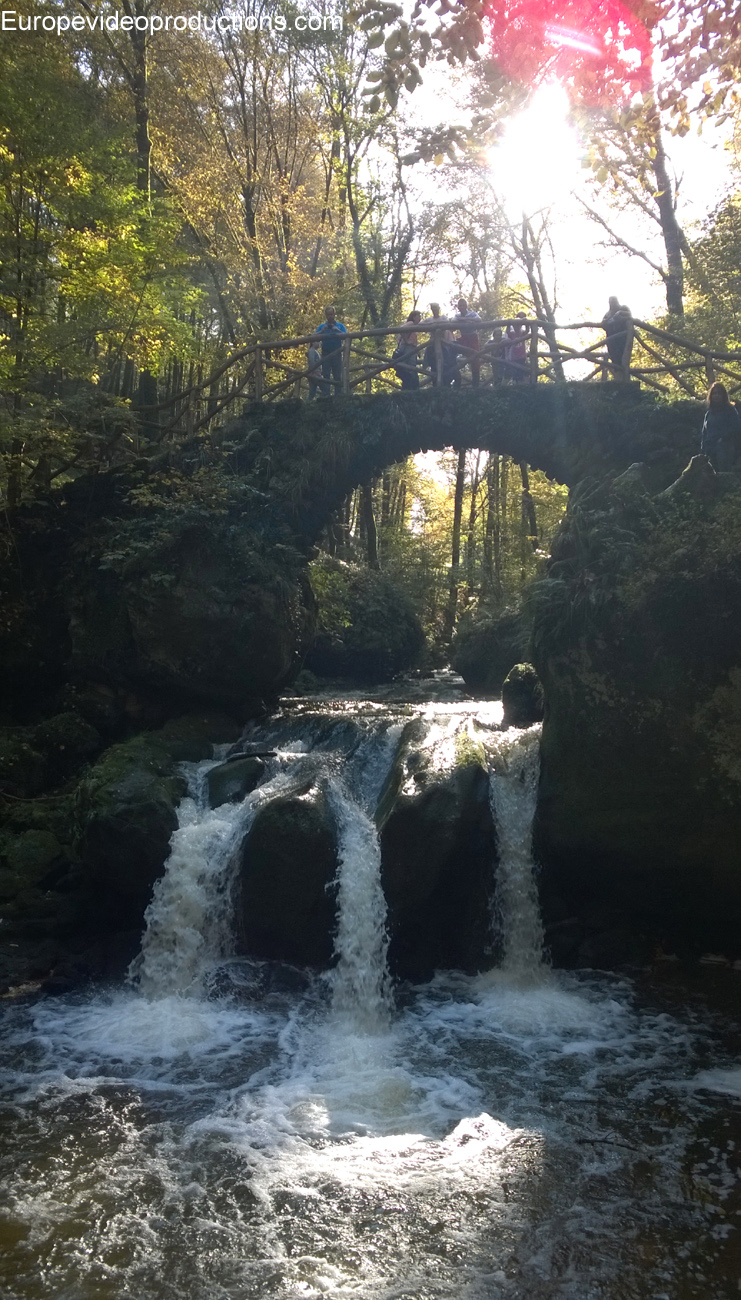 Schissentûmpel waterfall in Mullerthal area in Grand Duchy of Luxembourg