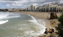 The beach of Biarritz Basque Country in France