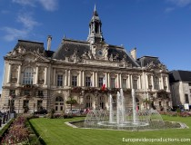 The town hall of Tours in France