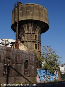 Abandoned water tower in Charleroi, Belgium