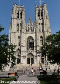 Cathedral of St. Michael and St. Gudula in Brussels in Belgium