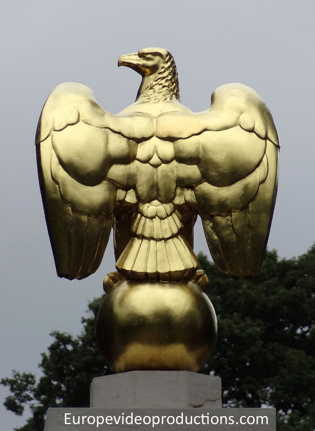 Eagle in Luxembourg American Military Cemetery