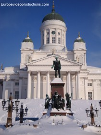 Catheral of Helsinki in Finland in winter