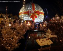 Europa-Park theme park in Rust in Southern Germany during Christmas time