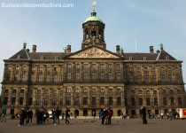 The Royal Palace in Amsterdam in the Netherlands