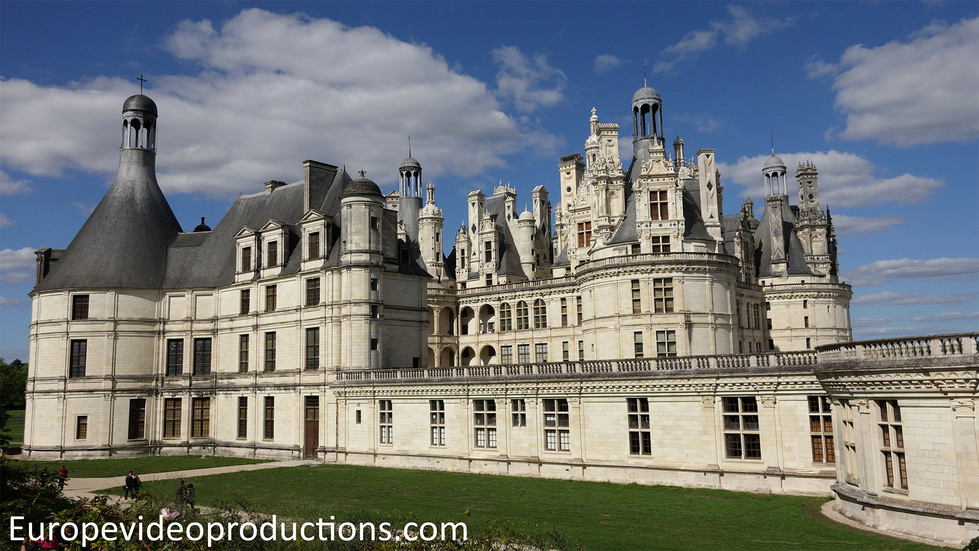 Castle of Chambord in the Loire Valley in France