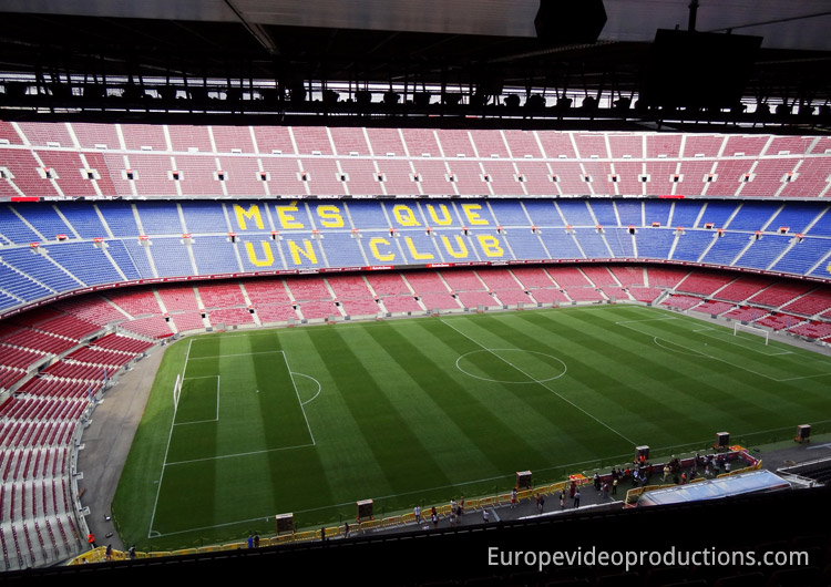 Camp Nou – home stadium of FC Barcelona in Catalonia in Spain