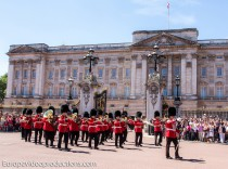 Changing the Guard at Buckingham Palace in London in England