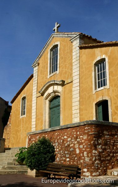 Church of Roussillon in Provence in France