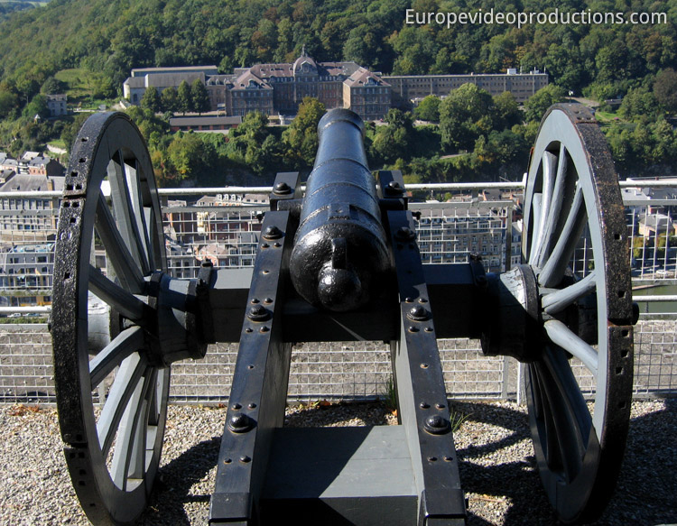 View from Citadel of Dinant in Wallonia in Belgium