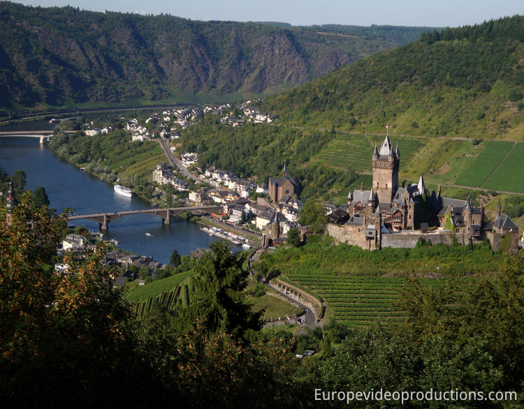Cochem Castle in Moselle Valley in Germany