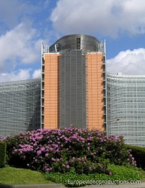 Berlaymont Building in Brussels, Belgium, hosting the headquarters of the European Commission