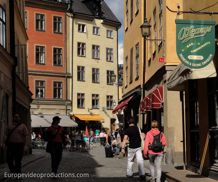 Gamla Stan – Old Town in Stockholm in Sweden