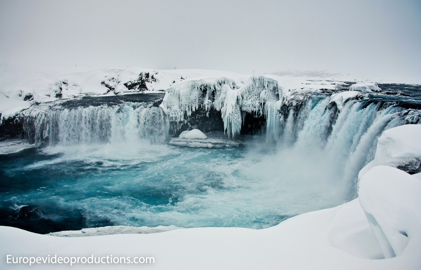 Godafoss waterfall in Iceland – Waterfall of the Gods in North Iceland