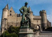 Het Steen fortress in Antwerp in Flanders in Belgium