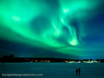 Northern lights in Rovaniemi in Finnish Lapland