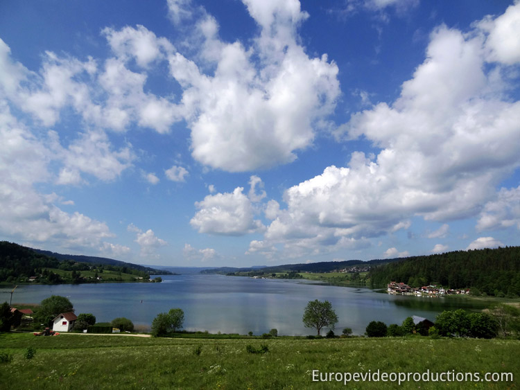 Lac de Saint-Point- lake in Jura Mountains in Eastern France