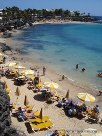 Beach in Lanzarote Canary Islands in Spain