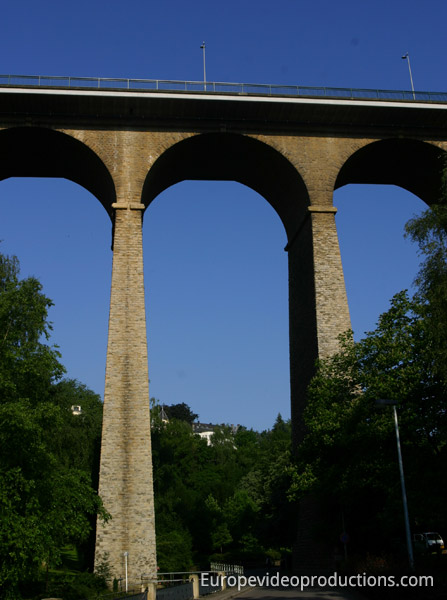 Luxembourg Viaduct in Luxembourg City
