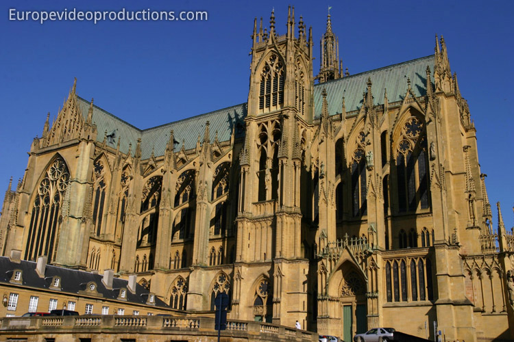 Metz Cathedral in Lorraine in France