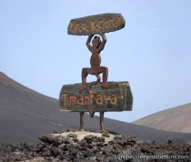 Timanfaya National Park in Lanzarote in Canary Islands in Spain