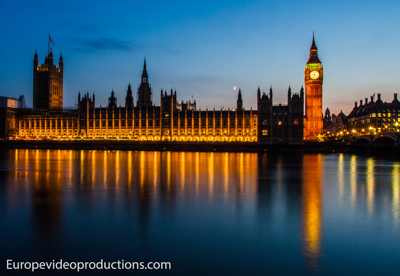 Palace of Westminster and Big Ben during night time in London, England