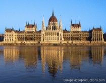 Parliament building in Budapest in Hungary