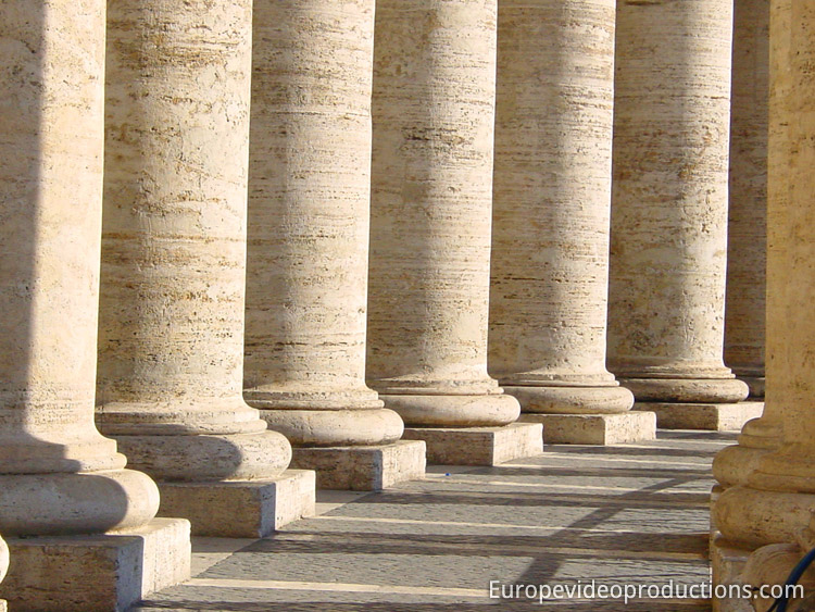 Saint Peter's Square in Vatican City in Italy
