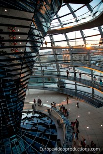Reichstag Dome in Berlin in Germany