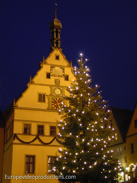 Rothenburg ober der Tauber in Bavaria in Germany