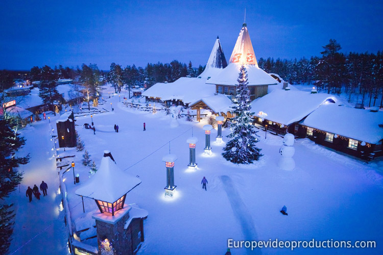 Santa Claus Village on the Arctic Circle in Rovaniemi in Lapland