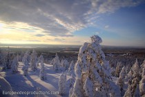 Winter in Rovaniemi in Lappland, Finnland
