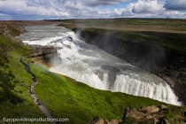 Gullfoss Wasserfall auf der Golden Circle Route in Island