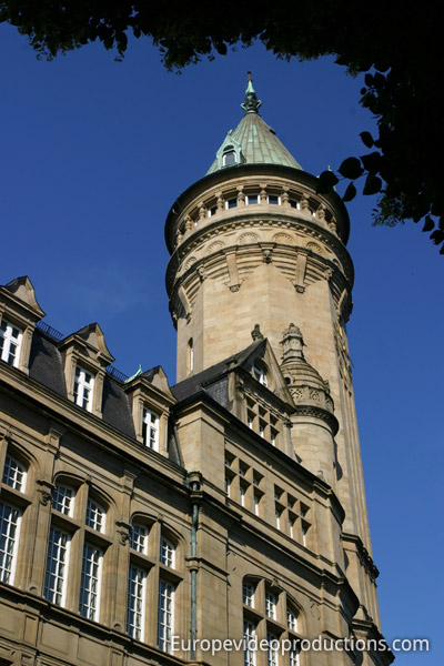 Spuerkees Bank building in Luxembourg City Center