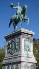 Statue of Grand Duke Guillaume II in Luxembourg City