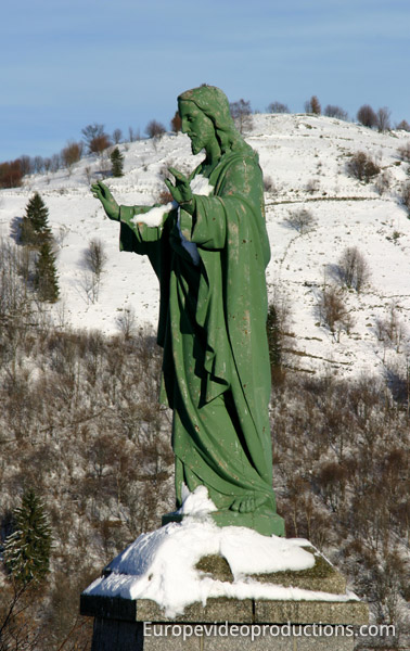 Statue in La Bresse in Vosges Mountains in France