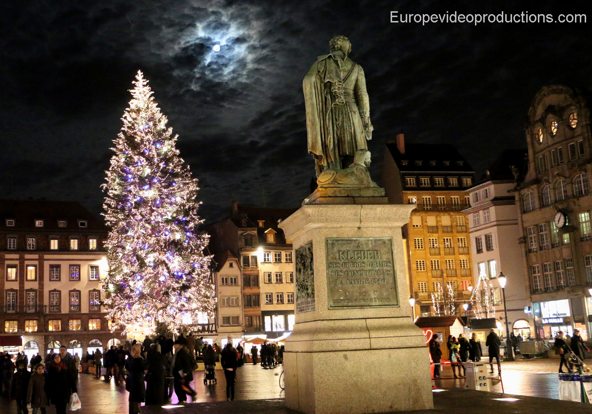 Strasbourg in France during Christmas time