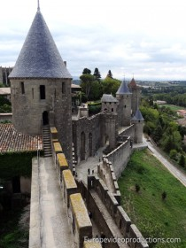 Carcassonne Castle in Languedoc-Roussillon in France