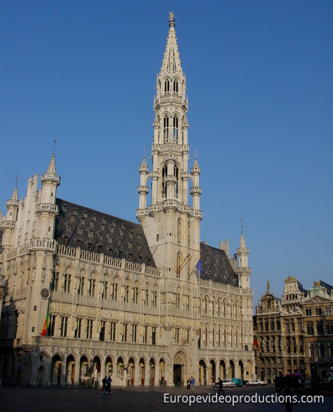 Town hall in Grand Place in Brussels, Belgium