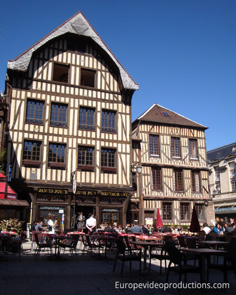 Troyes in Champagne-Ardenne Region in France