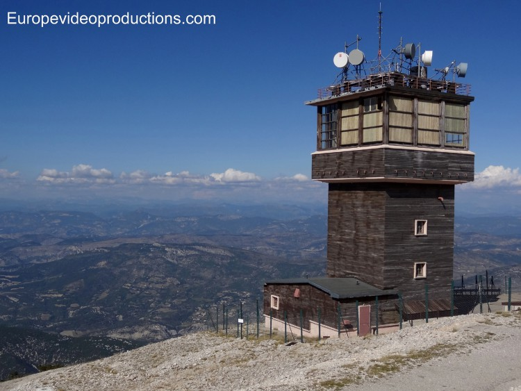 View from the top of the Mont Ventoux in Provence in France