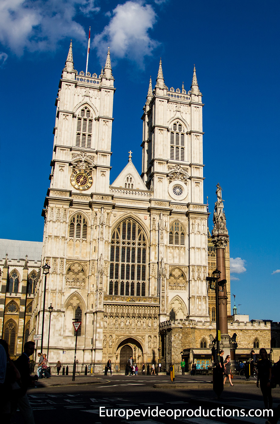 Westminster Abbey in the capital of England, London