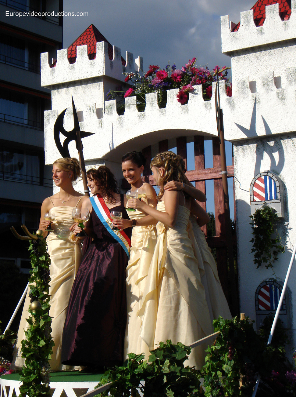 Wine festival of Grevenmacher in the Moselle of Luxembourg