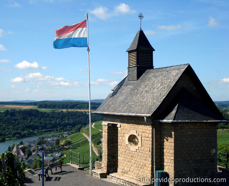 Chapel of Wormeldange in Luxembourg Moselle