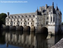 Castle of Chenonceau in the Loire valley in France
