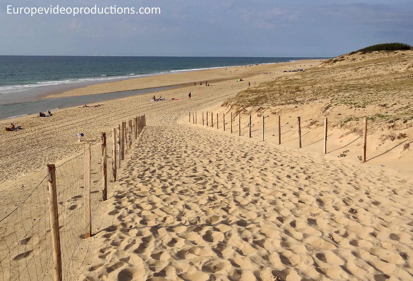 Beach in Seignosse in Lands in Southwest France