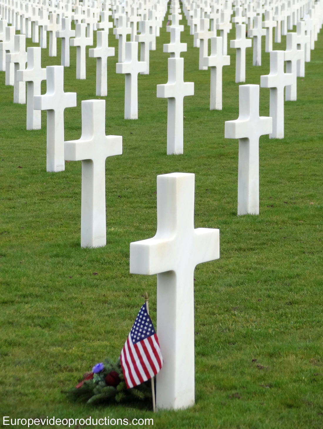 Epinal American Cemetery of Second World War close to Epinal in France