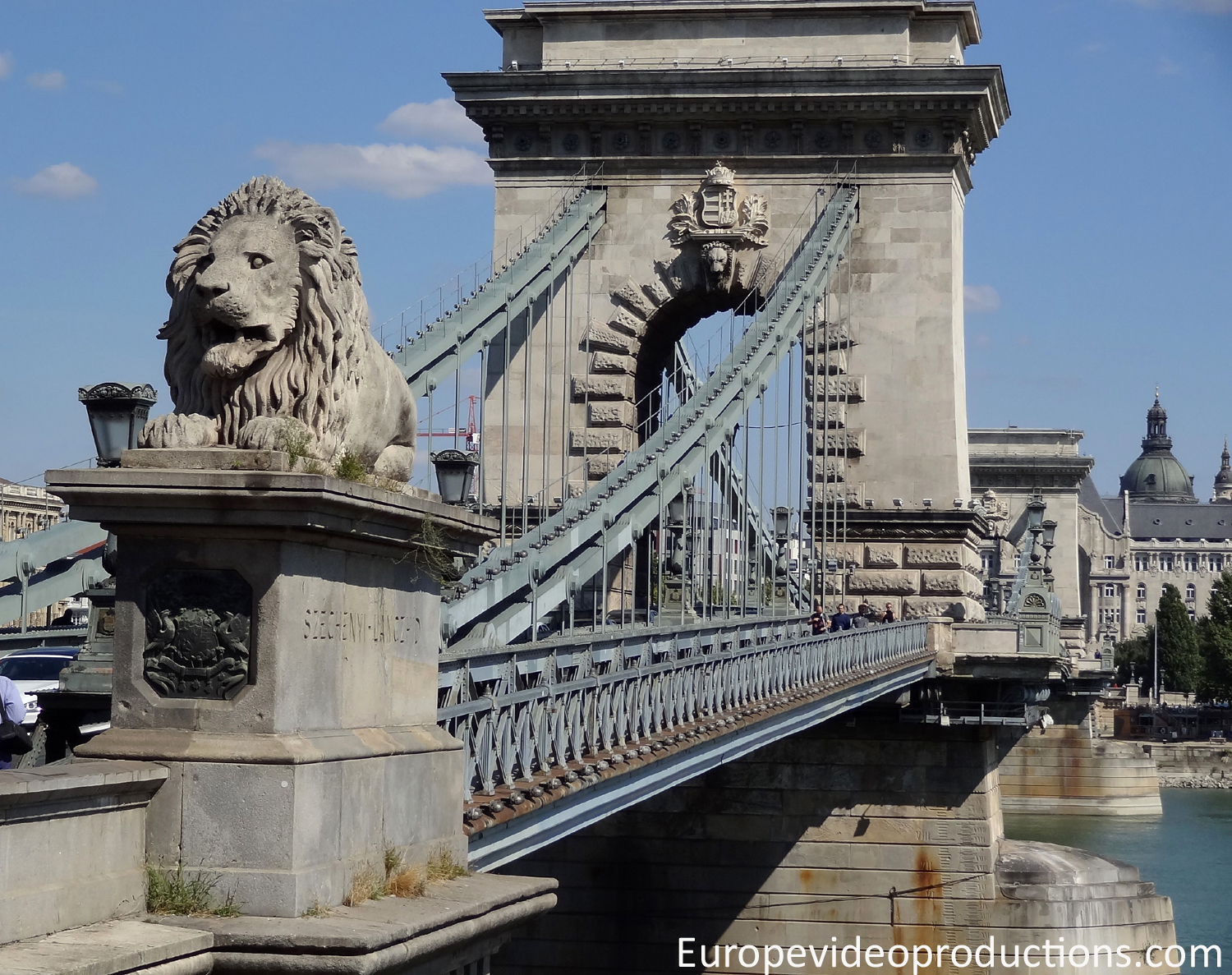 The Chain Bridge in Budapest in Hungary