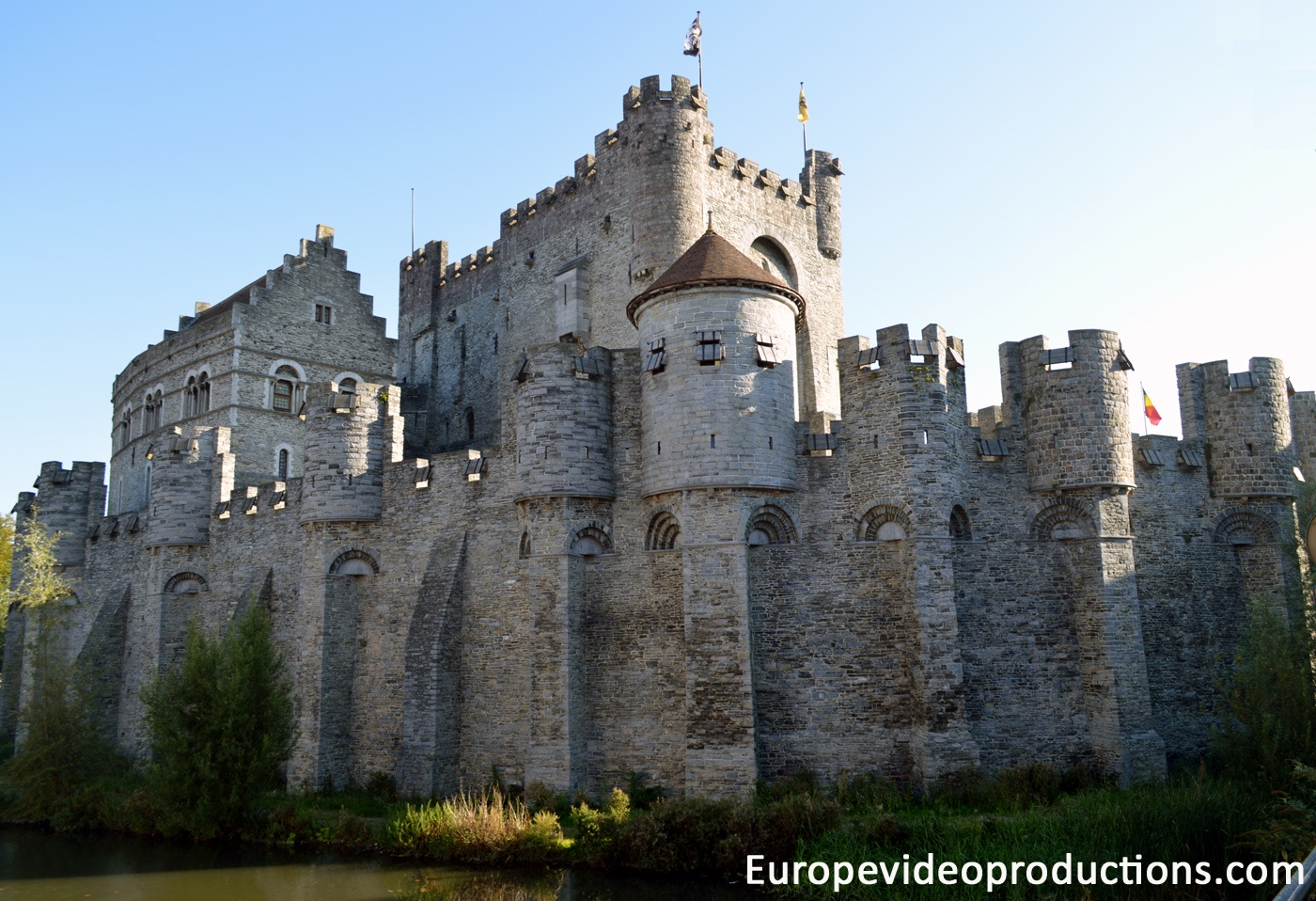The Castle of the Counts in Ghent in Franders in Belgium