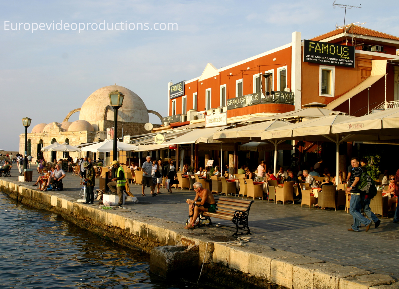 Harbor of Chania in Crete Island in Greece